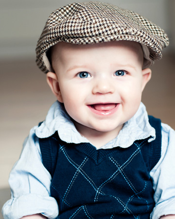 Baby boy wearing hat