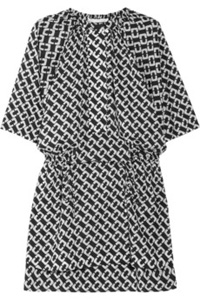 Diane von Furstenberg style in black and white chain link print (net-a-porter.com, $200)