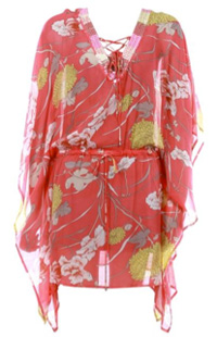 multi-colored floral print silk-chiffon kaftan (resort-im-hm.com, $199)