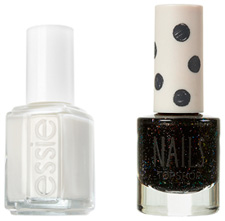 Black and white nail polish colors