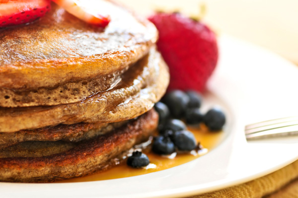 Whole grain buckwheat pancakes