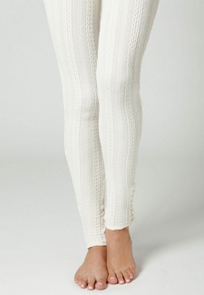 Cableknit leggings