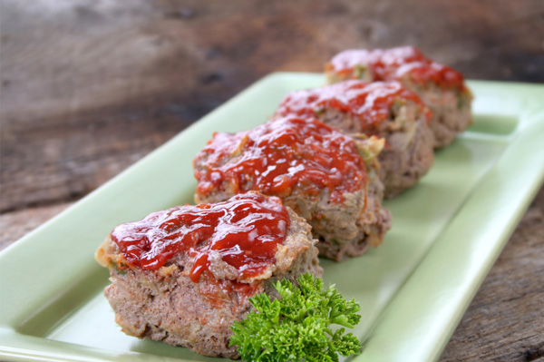 Cheesy mini meat loaf