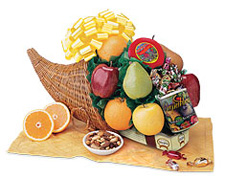 Cornucopia Fruit Gift Basket ($61)