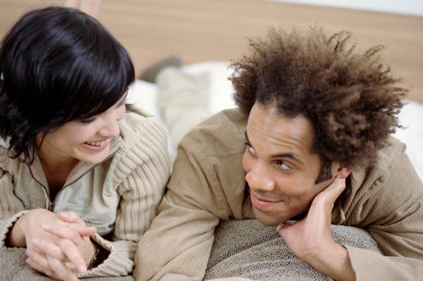 Couple talking about feelings