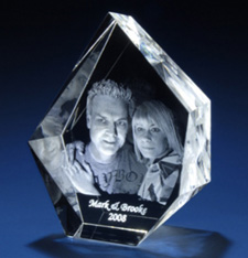 Custom 3D Laser Christmas Crystal