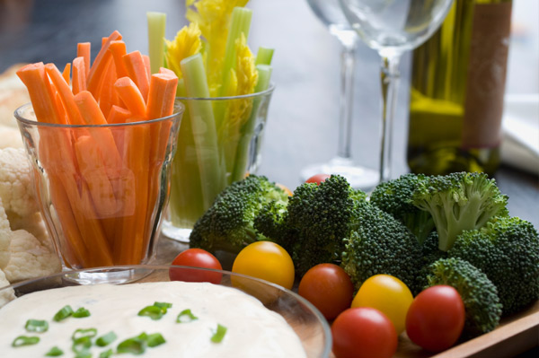 crudite with dill dip