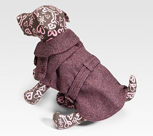 Juicy Couture Herringbone Dog Trench