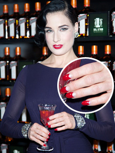 Dita von Teese -- Half moon nails