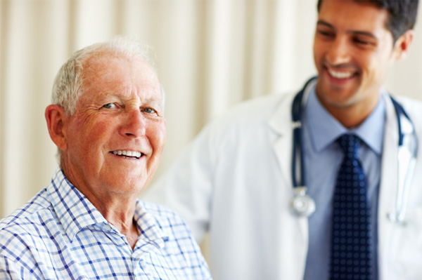 Senior man having checkup