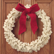Dog bone wreath