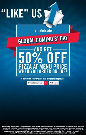Global Domino's Day on Facebook