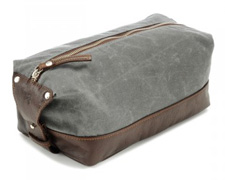 Ernest Alexander Charcoal Wax Dopp Kit