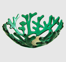 Emerald green seal coral bowl
