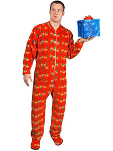 Christmas Lights Footed Pajamas