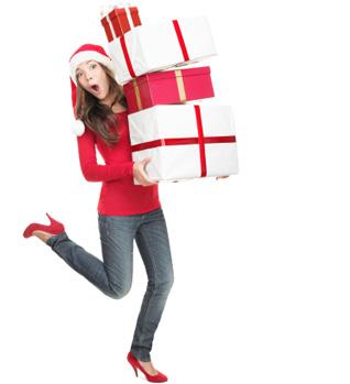 Frantic holiday shopper