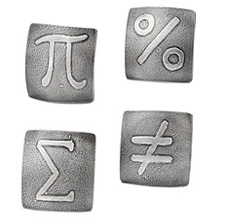 Mathematics cufflinks