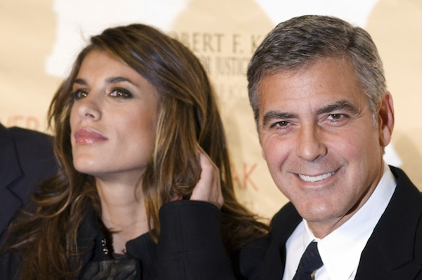 George Clooney and Elisabetta Canalis were one of many celebrity breakups in 2011