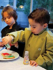 OK! It's My Turn! Kids Lime Green Chef Coat ($25)
