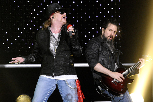 Guns N' Roses in Las Vegas in NYE