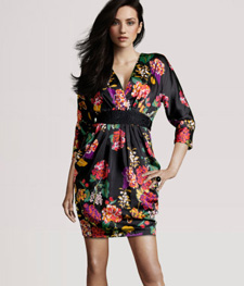 H and M Knee Length Floral Dress
