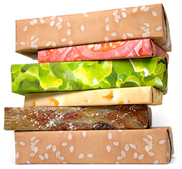 Hamburger wrapping paper