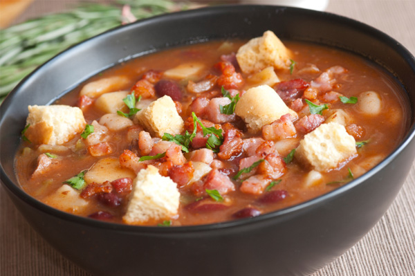Gluten free hearty beef and bean soup