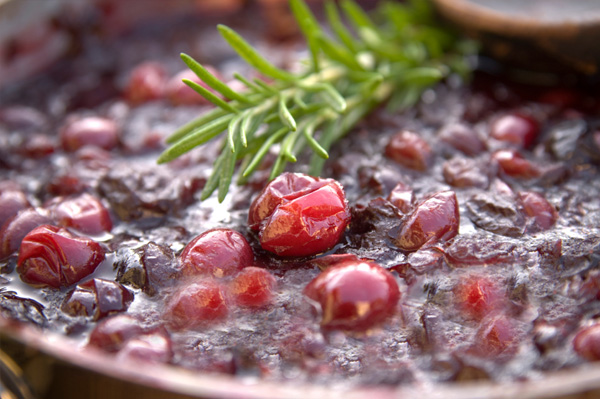 Homemade healthy cranberry sauce