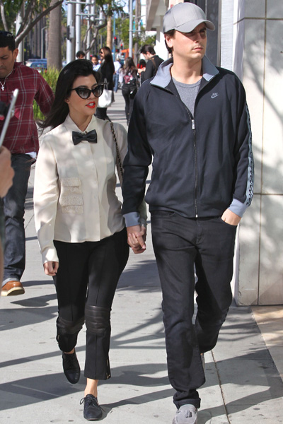 Pregnant Kourtney Kardashian and Scott Disick