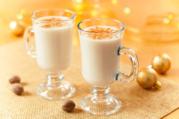 Low fat spiked eggnog