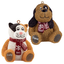 Luv-a-pet Christmas ornaments