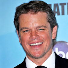 Matt Damon laughing