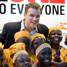 Matt Damon at charity event