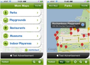 Mom Maps app
