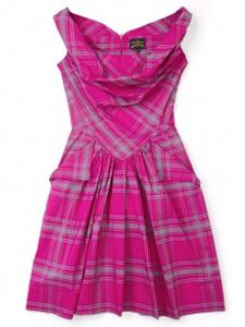 Vivienne Westwood pink plaid frock