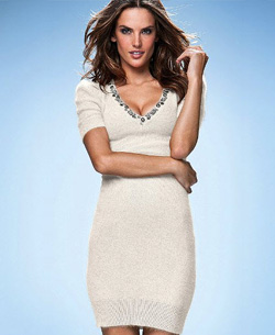 Embellished Angora Sweaterdress