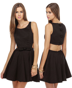 Queen of Swing Black Cut Out Dress, $47