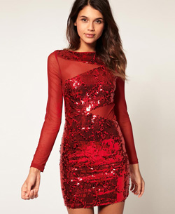ASOS Sequin and Mesh Dress