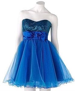 Speechless Sequin and Tulle Strapless Dres
