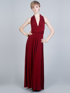 rich red maxi dress
