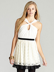Winter white party dress