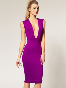 purple pencil dress 