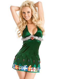 sexy Christmas tree in this getup from 3wishes.com ($57, 3wishes.com)
