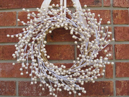 Pearl Berry New Year's Wreath