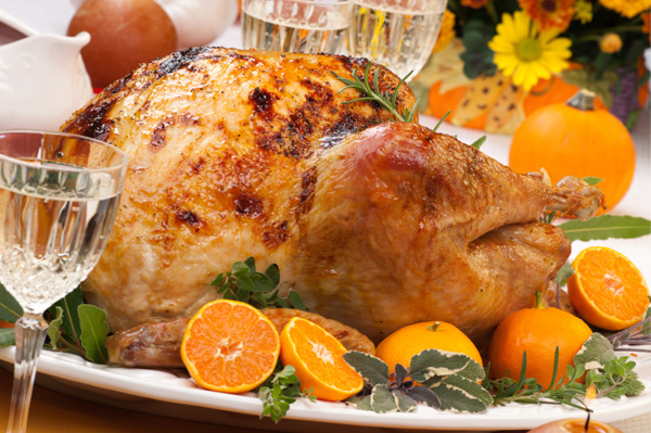 Roast turkey with citrus