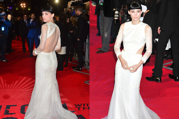 Rooney Mara in Givenchy at The Girl With the Dragon Tattoo premiere