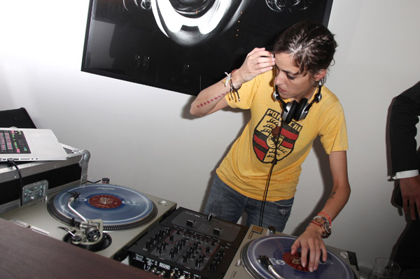 Samantha Ronson in Las Vegas on NYE