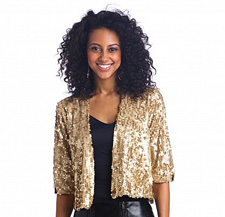 Baby Phat Crop Sequin Jacket