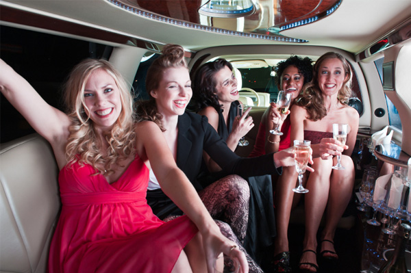 Surprise birthday party in limo