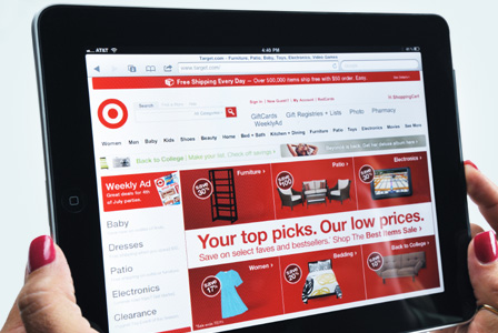 Target website on ipad